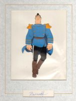Heavy Metal- Captain Sternn, full figure, Animation Production Cel, Signed by BERNI WRIGHTSON, 1981 Comic Art