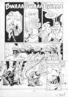 WILLIS, DAMON / KARL STORY - Aliens Genocide #1 pg 17, Space Marine with baby Alien Comic Art
