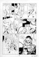 WILLIS, DAMON / KARL STORY - Aliens Genocide #1 pg 18, Space Marine holding Alien by head Comic Art