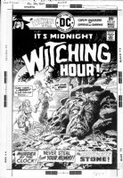 DOMINGUEZ, LUIS - Witching Hour #62 cover, couple, monster face in rock Comic Art