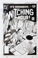 DOMINGUEZ, LUIS - Witching Hour #77 cover, Old Witch rare appearance, shipboard Comic Art