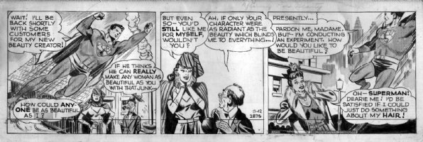 BORING, WAYNE - Superman daily 3/12 1948 (drawn 1947) Superman, femme fatale Comic Art