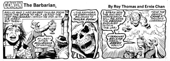 CHAN, ERNIE - Conan daily 1/29 1980, THULSA DOOM Comic Art