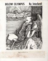 INTERLANDI, PHIL - Below Olympus daily, Pre-Watergate Dump Agnew, ala Albrecht D�rer 1971 Comic Art