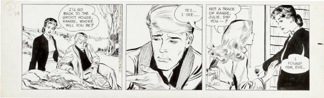 ADAMS, NEAL & STAN DRAKE - Juliet Jones daily 3/20 1968, Julie & Eve Comic Art