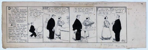 KING, FRANK - Gasoline Alley daily 5/6 1921, Walt takes baby Skeezix to nurse Comic Art