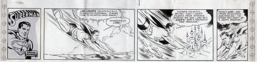 BORING, WAYNE - Superman top third Sunday, Supes, Lori Lemaris story 12/17 1961 Comic Art