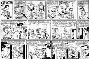 BORING, WAYNE - Superman Sunday 6/31 1962, Supes with glasses & everyday Superman Comic Art