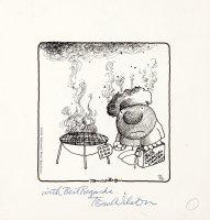 WILSON, TOM - Ziggy Daily 7/5 1974 Ziggy burned ala Crumb Comic Art