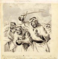 WOODBRIDGE, GEORGE - Crime panel, Arabic rebels, Premier Magazines, Al Williamson collection 1950s Comic Art