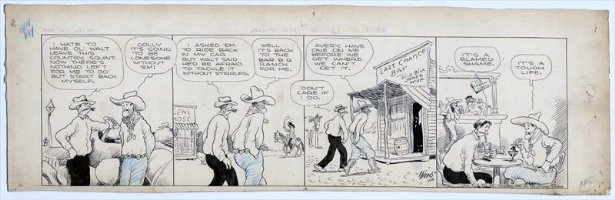 KING, FRANK - Gasoline Alley daily, old west- Last Chance Bar, 9/23 1926 Comic Art
