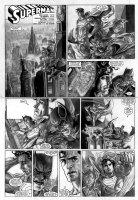 BERMEJO, LEE - Superman Sunday - Supes & Batman team-up - DC Wednesday Comics feature 2010 Comic Art