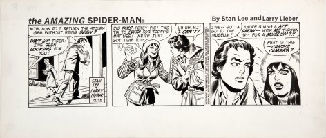 ROMITA SR, JOHN / FRED KIDA - Amazing Spider-Man daily, Peter & Mary Jane - X-Mas strip  12/25 198 Comic Art