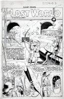EVANS, GEORGE / AL WILLIAMSON - Planet Comics #64 splash pg 1, Lost World 1950 Comic Art