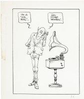 MOEBIUS - Alien critic - comic strip #22 daily panel style -  Soul Music  Comic Art