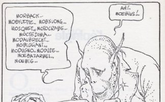 MOEBIUS - Alien critic - comic strip REF Comic Art