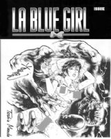 MAEDA, TOSHIO - La Blue Girl cover recreation 2012 for Adults only Comic Art