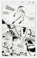 MADUREIRA, JOE / Tim Townsend inks - Astonishing X-Men #3 (Uncanny sub-series) pg 2,  Wildchild beaten by Holocaust's trooper 1995 Comic Art