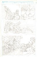 LOPRESTI, AARON - X-Men tryout pencil pg 3, Cable Sabertooth Wolvie Rogue Pylocke 1992 Comic Art