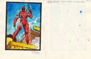 VAN BRISEN, SHAWN based on JIM LEE X-Men Card, Deadpool ink & color - 1992 Comic Art