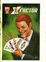 FABRY, GLENN -X-Factor #30 painted cover, Arcade & X-Men on cards Comic Art
