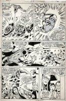 TUSKA, GEORGE / DON PERLIN & COCKRUM - Iron Man #98 pg, X-Men's Sunfire vs Tony Stark as Guardian 1977 Comic Art