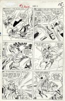 KIRBY, JACK - Fantastic Four Annual #3 lrg pg, Wedding issue: X-Men' Angel vs Iron Man villains' Mandarin & Black Knight Comic Art