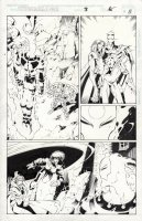 MADUREIRA, JOE - Astonishing XMen #3 pg 8 / #321.3, Rogue Blink Sunfire Morph & Wildchild vs Onslaught Comic Art