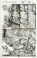 MADUREIRA, JOE / Tim Townsend inks - Uncanny X-Men #312 pg 18, 1st Joe Mad issue! Marvel Girl & Gambit vs Phalanx Comic Art