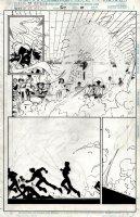 MADUREIRA, JOE / TOWNESEND - Uncanny X-Men #339 pg 10, Wolverine & Warren vs Steam Ninja Comic Art