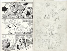 BYRNE, JOHN / BOB McLEOD - New Mutants #75 pg 20, Magneto, 1st Grey King, vs Black King + Rog 2000 Comic Art