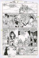 ADAMS, ART - New Mutants Special #1 pg 47, Art's 1st X-title art! Danni vs Asgard Norn Gals Comic Art