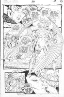 GARNEY, RON - Uncanny X-Men #321 semi-splash pg, Arch-Angel, Rogue & Gambit, Cyclops & Marvel Girl Comic Art