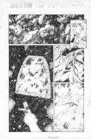 MADUREIRA, JOE / TIM TOWNSEND - Uncanny X-Men #342 pg 9, Beast Rogue , Shi'ar spaceship Comic Art