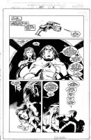 MADUREIRA, JOE / TOWNESEND - Uncanny X-Men #343 pg 15, Beast drives space ship with Trish Tilby  Comic Art