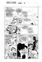 MADUREIRA, JOE / TOWNESEND - Uncanny X-Men #350 pg 4, final Joe Mad issue - Gambit & jungle girl hunter, Spat Comic Art