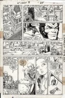 ADAMS, ART / MIKE MIGNOLA - Uncanny X-Men Annual #9 pg 25, Wolvie X-Men & New Mutants in Asgard 1985  Comic Art