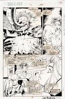MADUREIRA, JOE / Tim Townsend inks - Uncanny X-Men #312 splashy pg 30, 1st Joe Mad issue! White Queen Jubilee Prof X Comic Art