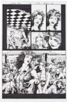 TAN, PHILIP - Uncanny X-Men #425 pg 7, mutant bar for Polaris bachelorette party Comic Art