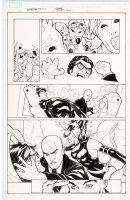 DODSON, TERRY - Uncanny X-Men #518 pg 12, Scott & Emma + Professor X & Psylocke 2010 Comic Art