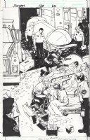 BILL SIENKIEWICZ / JP LEON - Grant Morrison's New X-Men #127 splash pg 20 , Xorn solo in Mutant Town Comic Art