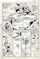DAVIS, ALAN - Uncanny X-Men #213 pg, Wolverine vs Sabertooth rematch Comic Art