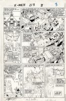 DAVIS, ALAN - Uncanny X-Men #213 pg 3, X-Men & Psylocke joins team Comic Art