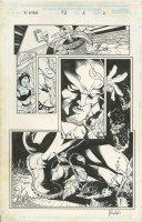 PACHECO, CARLOS / ART THIBERT - X-Men #72 pg 2, censored page - Wolvie smoking cigar + Storm 1998 Comic Art
