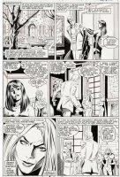 BLEVINS, BRET - Uncanny X-Men #219 pg, Havok sees Magneto join White Queen 1987 Comic Art