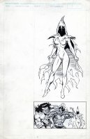 FRENZ, RON - X-Men vs Savage Land Mutates scene + Whiteout pinup Comic Art