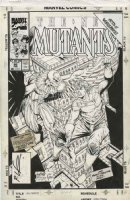 LIEFELD / TODD MCFARLANE  - New Mutants #86 cover, first by Rob, Spider-Man #2 homage & Vulture Comic Art