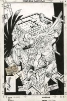 LIEFELD / TODD MCFARLANE  - New Mutants #86 cover, first by Rob, Spider-Man #2 homage & Vulture - LOGO OFF Comic Art