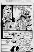 MADUREIRA, JOE / Tim Townsend inks - Uncanny X-Men #334 pg 15, Storm, Beast & Dark Beast, Cannonball w/ lettering Comic Art