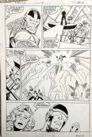 SIMONSON, WALT - X-Factor #19 pg 22, full team, early Apocalypse & his horsemen Comic Art